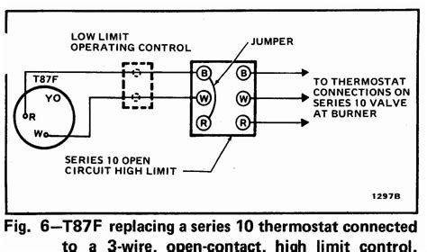 honeywell thermostat t87f wiring diagram honeywell