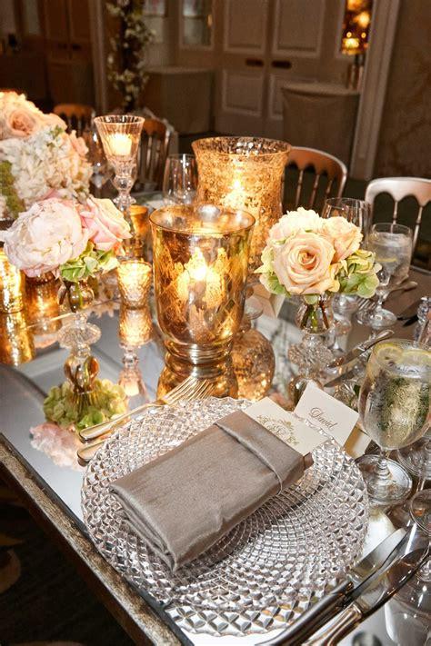 mirror wedding centerpieces reception d 233 cor photos mirror table with golden candle