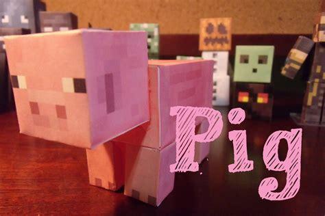 Papercraft Minecraft Pig - papercraft minecraft pig