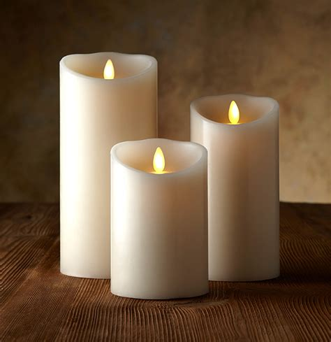 luminara candele luminara ivory candle battery operated 3 5 x 5 timer