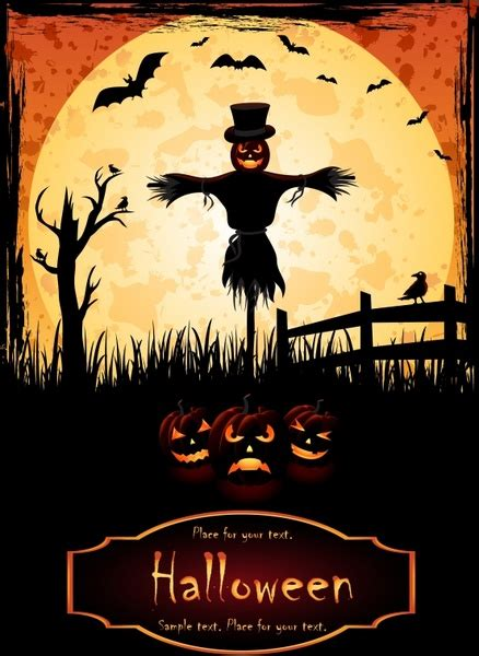 halloween vector elements posters  vector  encapsulated postscript eps eps vector