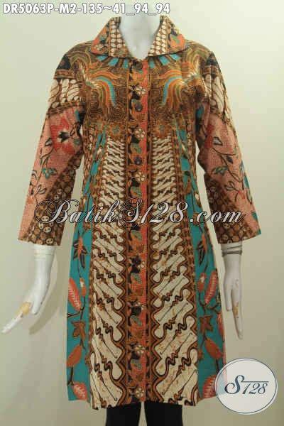 desain dress masa kini baju dress istimewa motif klasik produk pakaian batik