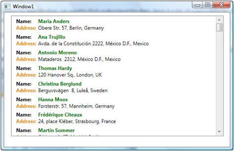 Wpf Listview Item Template wpf listbox data binding net software development