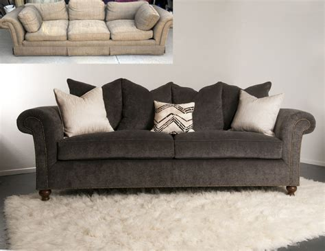 how to reupholster a tufted sofa reupholstery sofa while they snooze how to reupholster a