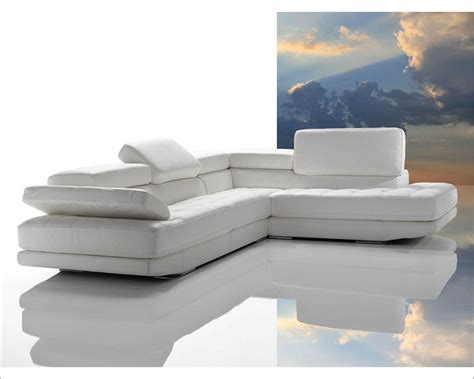 top grain leather sectional sofa made in italy 44l6012