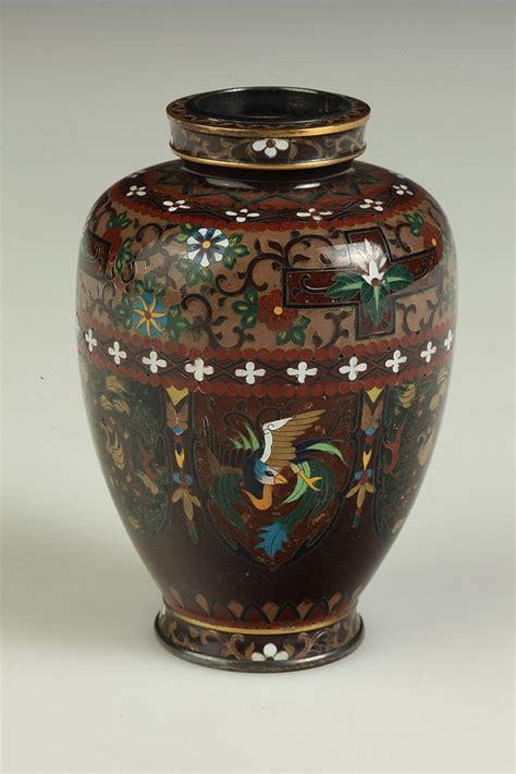Japanese Vase Marks by Japanese Cloisonn 201 Enamel Vase Meiji Period Ando Jubei Mar