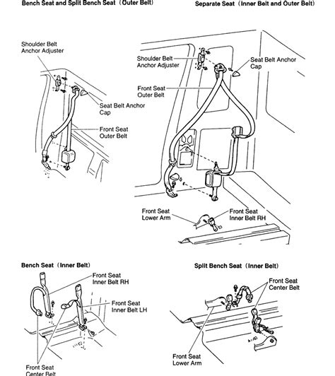 toyota seat belt repair replacement seat belts toyota tacoma