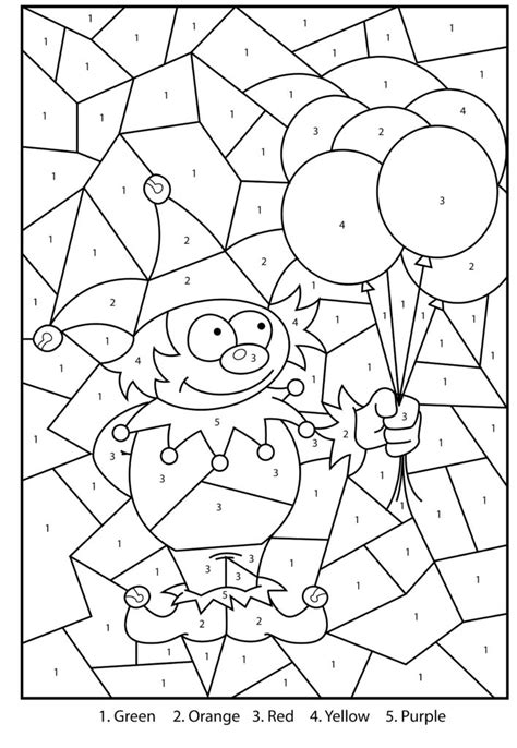 numbers coloring pictures for kids free printable number