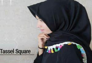 Tassel Bugayo Lonceng 15 jilbab segi empat terbaru modern dan kekinian hijabyuk
