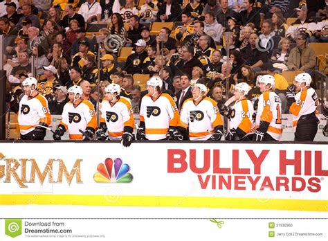 flyers bench flyers bench editorial image image 21530360