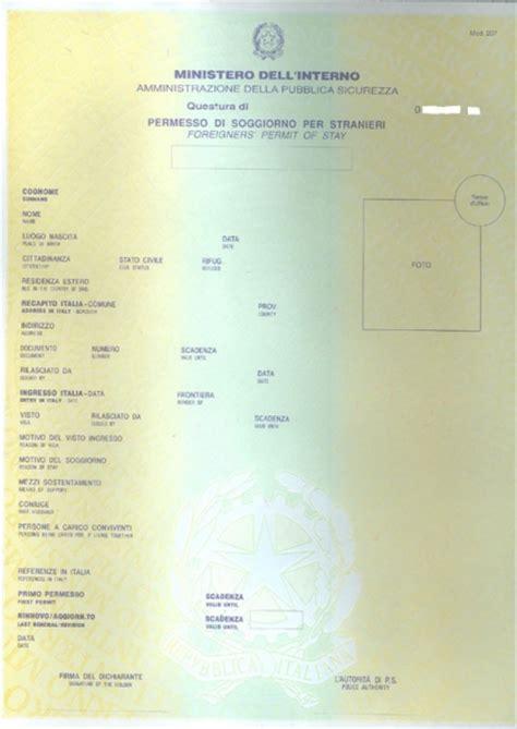 ministero interno permesso di soggiorno ministero dell interno permesso di soggiorno falsi