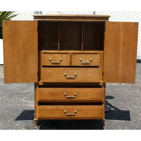 vintage wood armoire by century ebay