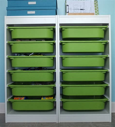 arts and crafts storage for arts and craft storage center teal and lime by jackie