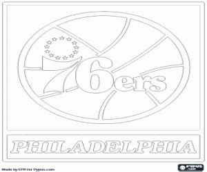 76ers Coloring Page by Nba Logos Coloring Pages Printable