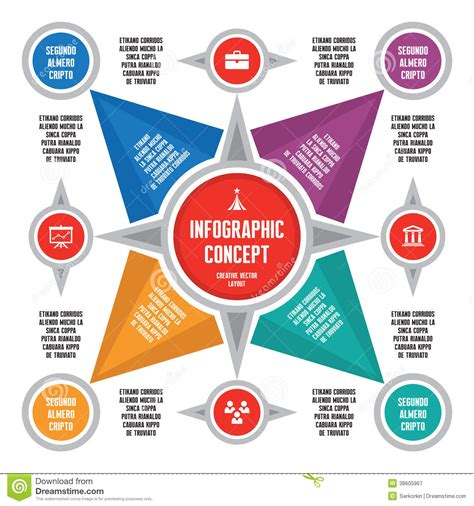 infographic concept scheme royalty free stock photography