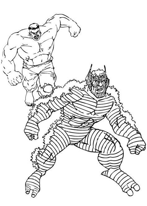 imagenes de hulk vs wolverine para colorear dibujos para colorear hulk persigue a abominaci 243 n es