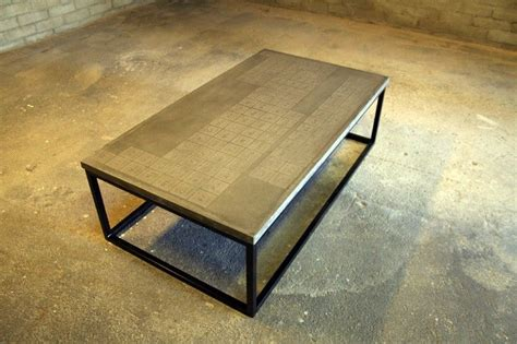custom made periodic concrete coffee table by dewulf