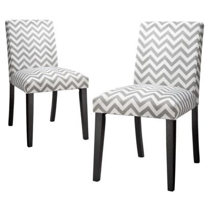 Chevron Dining Chairs Uptown Dining Chair Grey White Chevron Set Of 2 Rating 5 Out Of 5 1 Reviews 179 99