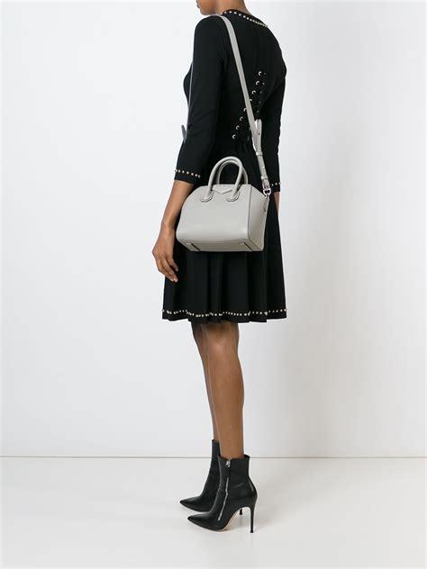 Givenchy Antigona 2 Tones 5713 givenchy mini bag antigona in gray lyst