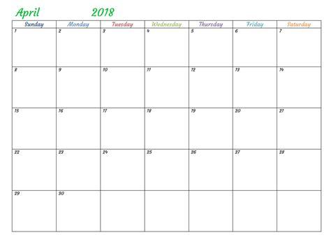 printable calendar 2018 microsoft office april 2018 calendar word document printable