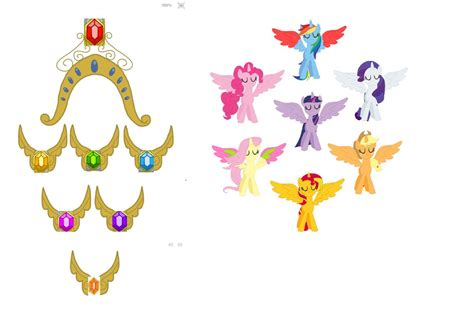 my little pony elements of harmony coloring pages elements of harmony mlp base and crown necklace pictures