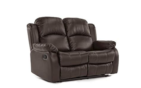 love seat size classic and traditional bonded leather recliner chair