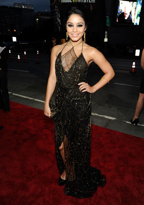 hudgens black dress hudgens zimbio