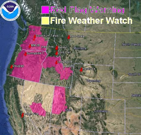 map of oregon fires now flag warnings and wildfire smoke map july 31 2013