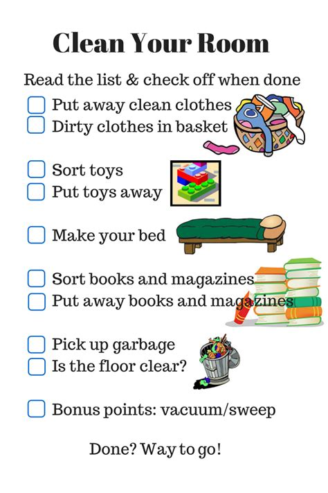 10 steps to clean your room parenting checklist clean your room rls creativity