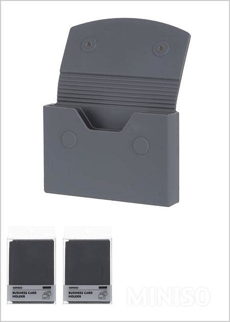 Jual Card Holder Miniso by Silicone Business Card Holder Grey Miniso Australia