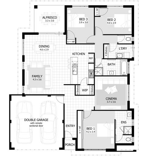three bedroom houses three bedroom plan in nigeria house floor plans