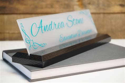 unique desk name plates desk name plate personalized professional office gift by garosigns