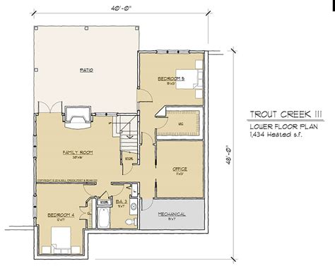 timber frame floor plans trout creek iii timber frame floor plan by mill creek