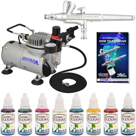 airbrush paint system 8 color kit air compressor airbrushing ebay