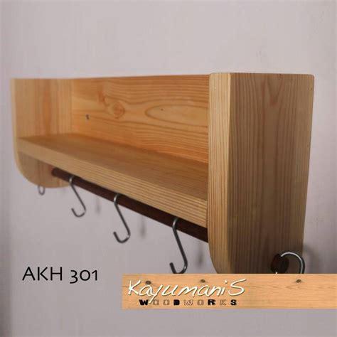 Rak Gantung jual rak ambalan bumbu dapur dan gantung alat masak kayu