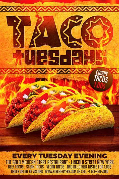 Taco Flyer Template Taco Tuesdays Flyer Template Xtremeflyers