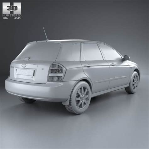 2004 Kia Models Kia Cerato Spectra Hatchback 2004 3d Model Humster3d