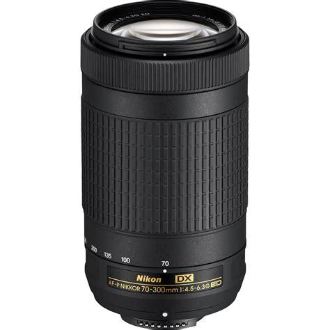 nikon dx nikon af p dx nikkor 70 300mm f 4 5 6 3g ed lens 20061 b h