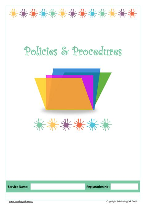 policies procedures pack mindingkids