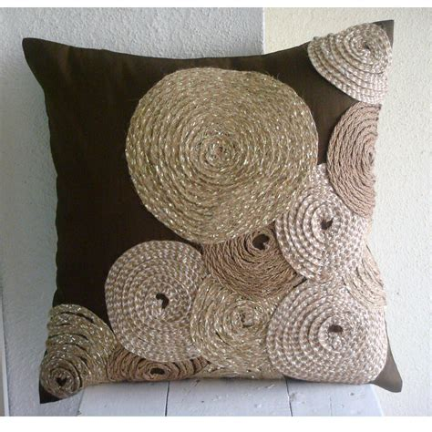 Handmade Decorative Pillows - handmade brown throw pillows cover for