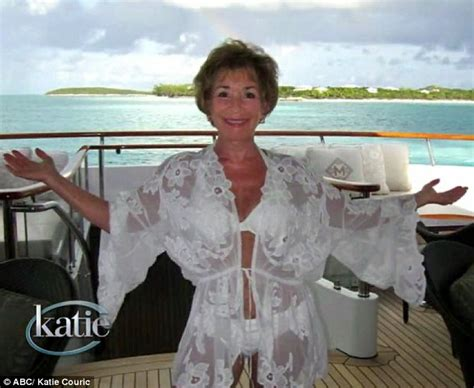 judge judy s boat judge judy swims with pigs in the bahamas for 70th