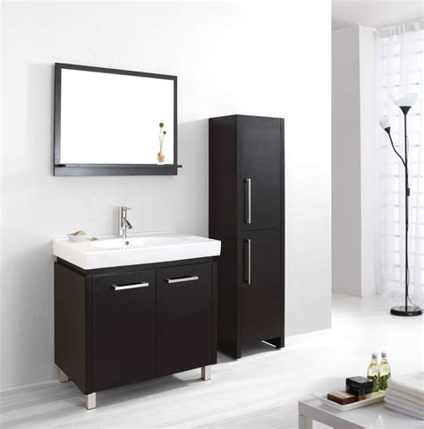 Black Modern Bathroom Vanity Modern Bathroom Vanity Table Featuring Wall Mounted Black Loversiq