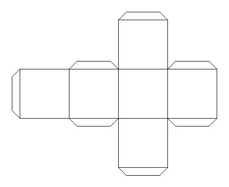 pattern for a cube shape listening to god listening to your class