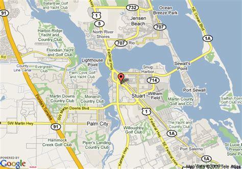 where is stuart florida on the map map of ramada inn stuart stuart
