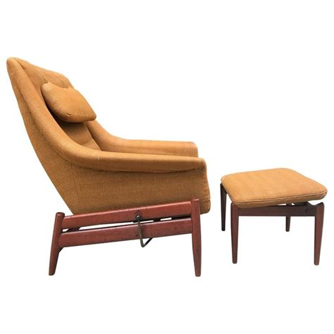 povl dinesen modern lounge chair and ottoman for