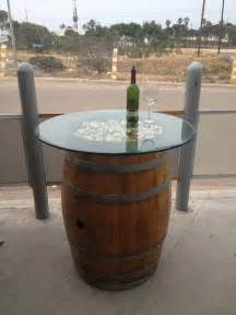 Wine Barrel Patio Table Wine Barrel Table Https Www Bajaswinebarreldecor Baja Swinebarreldecor