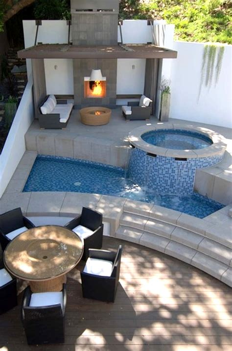 small modern backyard comfortable and modern backyard pools design