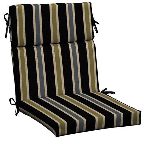 Black Patio Chair Cushions Hton Bay Black Ribbon Stripe Outdoor Dining Chair Cushion Jc24062b 9d6 The Home Depot