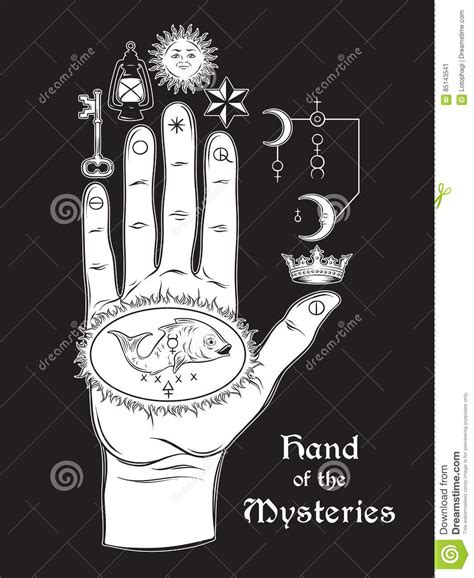 the hand of the mysteries the alchemical symbol of