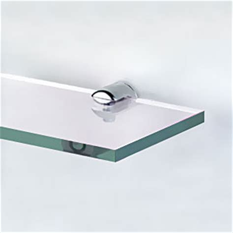 6mm Shelf Supports by Estuff Glass Shelf 6mm Thick 20x80 Cm With 4
